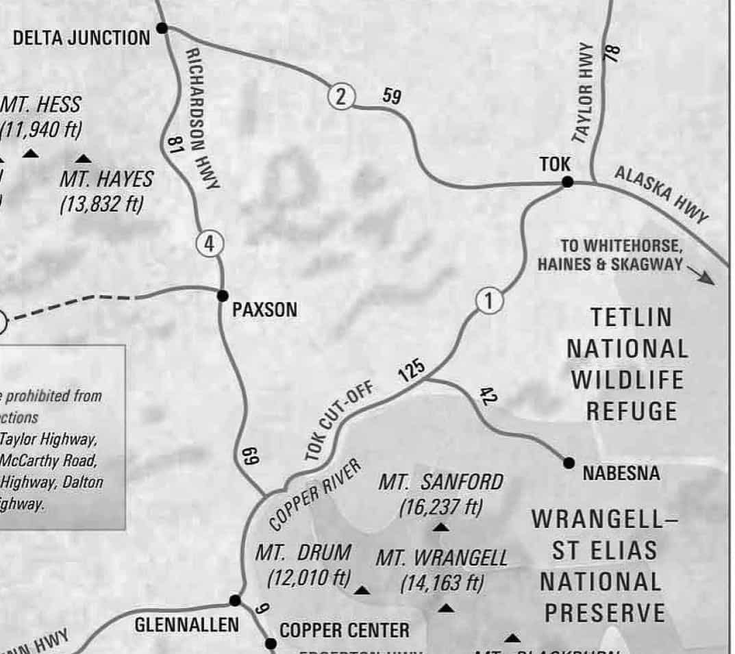 Down The Alaska Highway Details And The Drama Of Day 1 Supersize Life -> Tok Ak Street Map